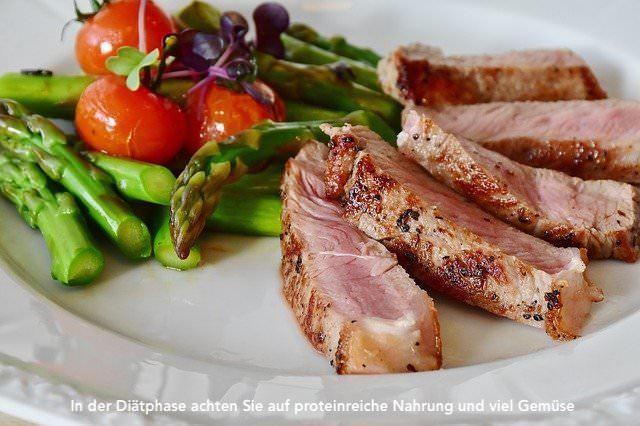 Gesundes und proteinreiches Essen in der Diät der Stoffwechselkur!