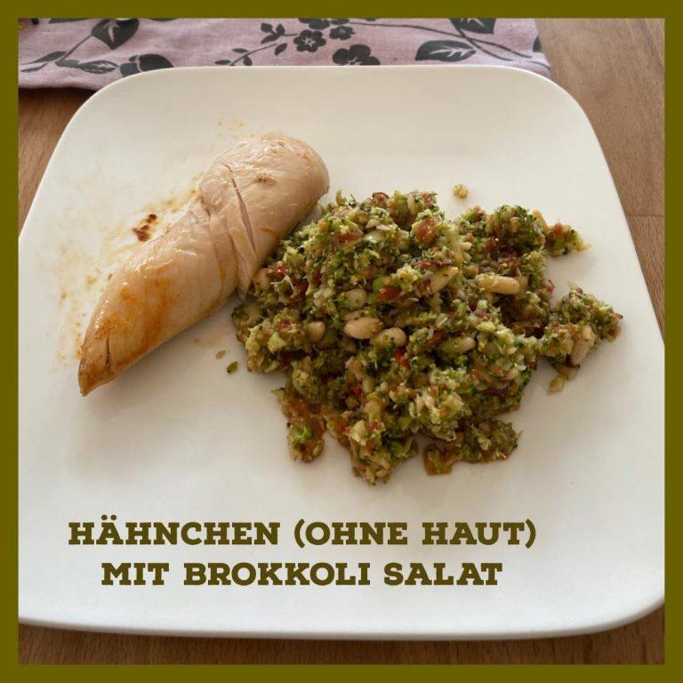 Hähnchen mit Brokkoli Salat